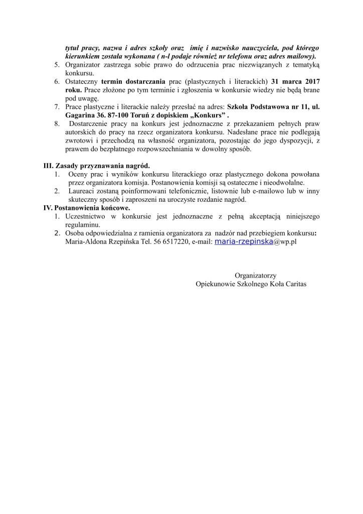 Konkurs regulamin-2